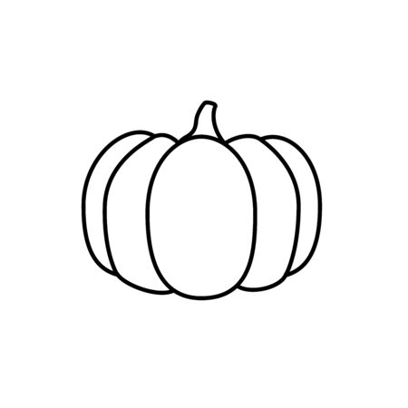 Modern pumpkin icon, great design for any purposes. Ilustracja