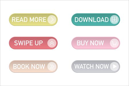 modern web buttons vector banners on colorful backdrop