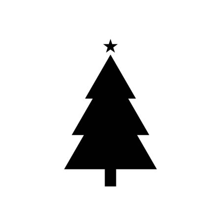 Christmas tree icon in contemporary style vector illustration Reklamní fotografie - 131358701