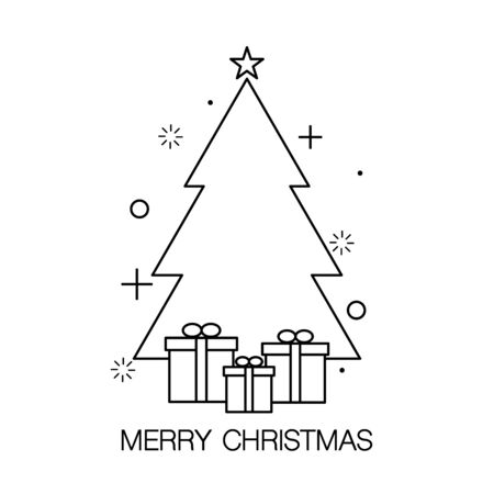 Christmas tree icon in contemporary style vector illustration Reklamní fotografie - 131358702