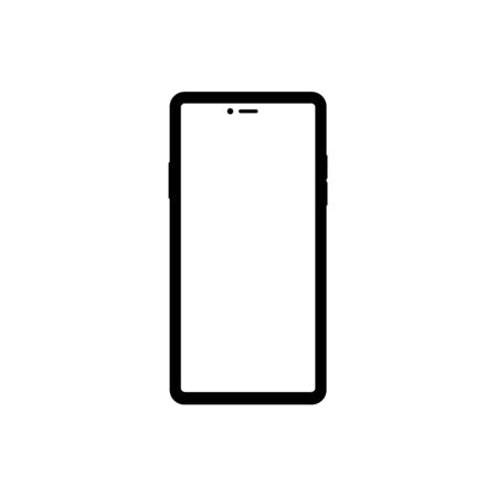 Modern illustration with mobile phone. Smartphone icon vector,