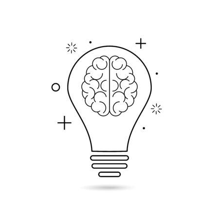 Idea sign, solution, thinking concept. bulb vector illustration