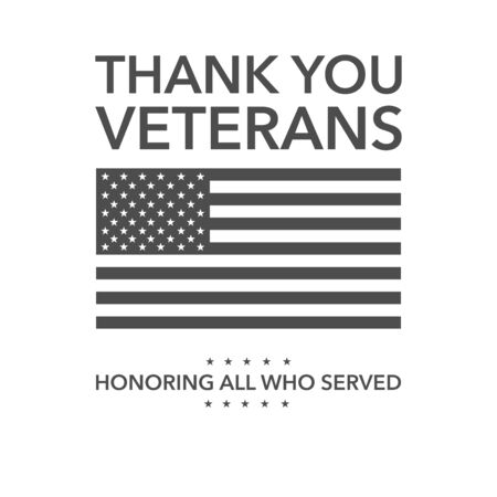 Illustration with veterans day. American patriotic background. vector