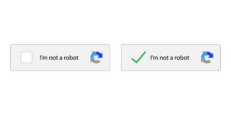 I am not robot on white background. vector illustration