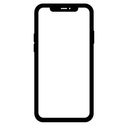 Mobile electronic cell phone Illustration empty screen vector 向量圖像