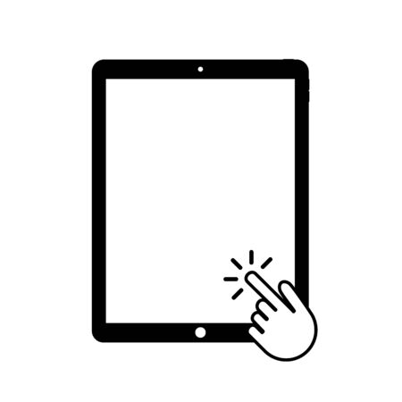 Pad for mobile device design. Monitor vector icon.