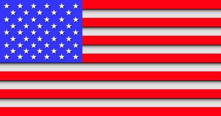 usa national country flag creative concept color vector
