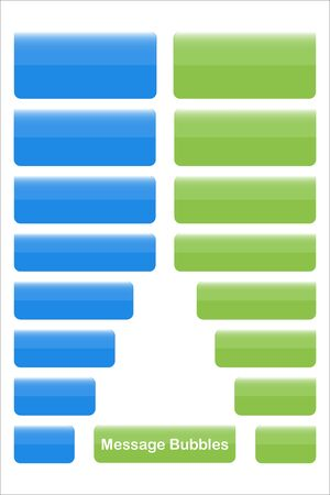 Set with Blank Speech message bubbles icons vector 向量圖像
