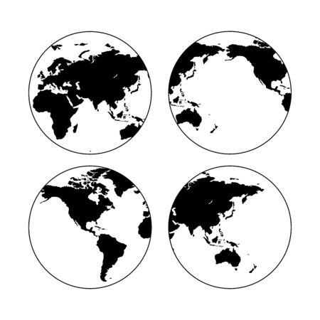 Globe vector icon. Planet symbol illustration. Europe countries. 向量圖像