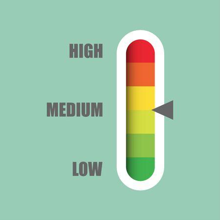 Infographic illustration for web design. Gauge vector icon.