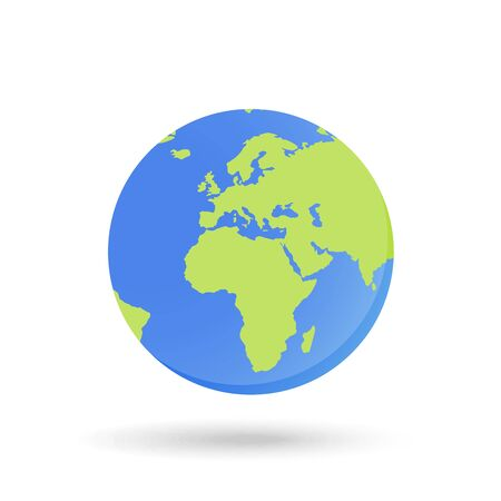 World map globe map silhouette vector. Isolated illustration.