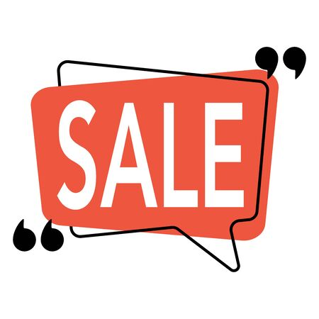Design template. Discount sale banner design. vector illustration