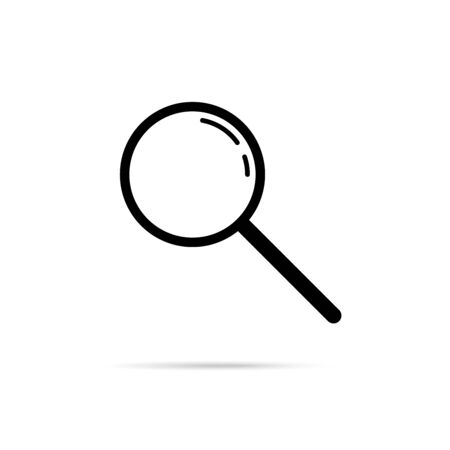 Research vector illustration. Search glass find icon. Isolated