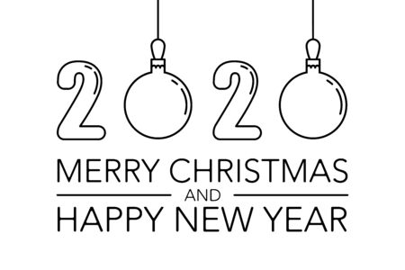 christmas card with new year for concept design.