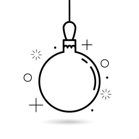 Christmas tree ball icon line symbol vector illustration 向量圖像