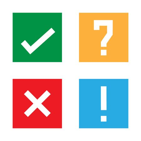 Yes check no question mark vector illustration icon Ilustrace