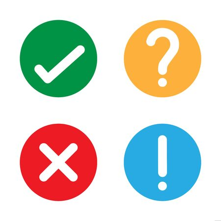Yes check no question mark vector illustration icon
