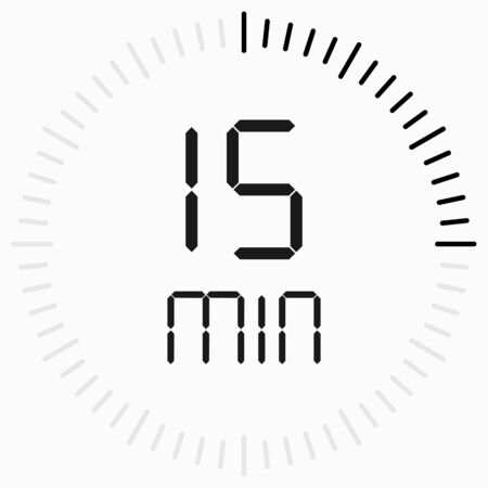 Modern icon. Time icon. Countdown timer. Start, finish. Illusztráció