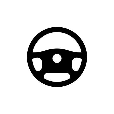 Car driver steering wheel symbol. Simple vector illustration.
