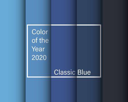 Farbe des Jahres 2020 klassisch blauer Hintergrund