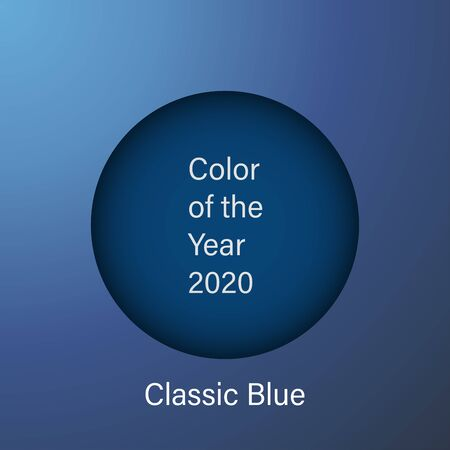 color of the year 2020 classic blue background