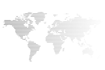 abstract world map Earth planet vector illustration icon
