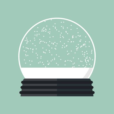Vector festive illustration. Christmas magic ball. Glass sphere. 向量圖像