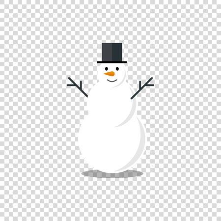 Flat snowman for celebration decoration design vector illustration.