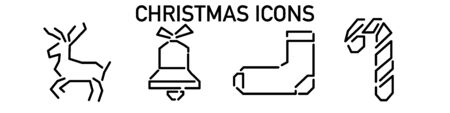 Christmas icon for decoration design. holiday vector illustration