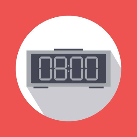 Vector alarm clock or time symbol flat design