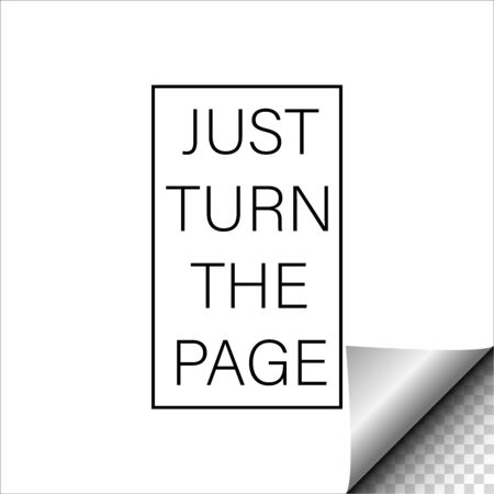 Turn page, great design for any purposes. Vector