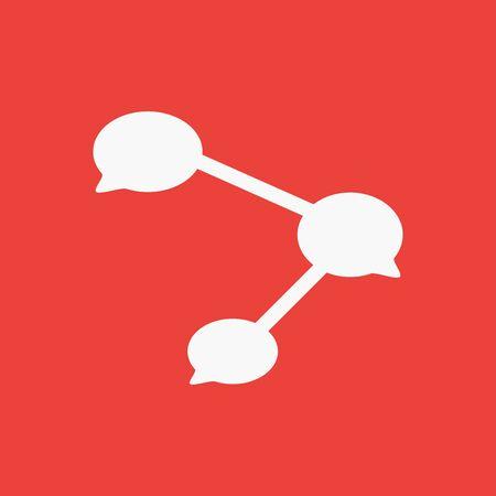 Share icon vector illustration publish symbol isolated background 向量圖像