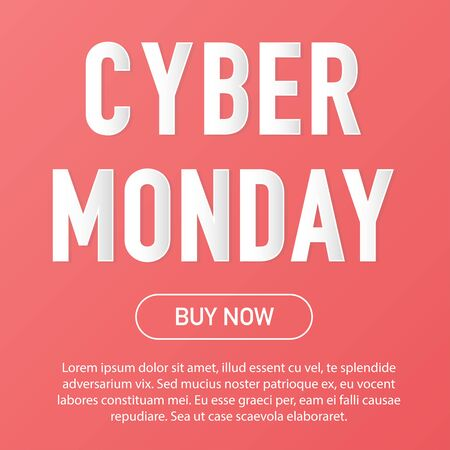 Cyber monday sale discount. Online background concept vector