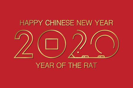 Chinese new year rat modern background vector illustration Illustration
