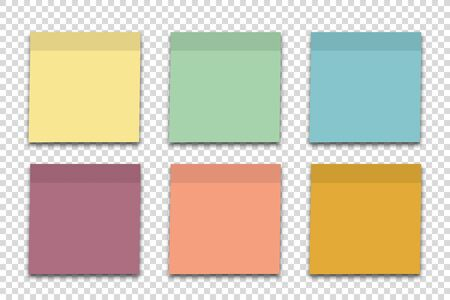 Empty sheet note papers isolated set vector illustration