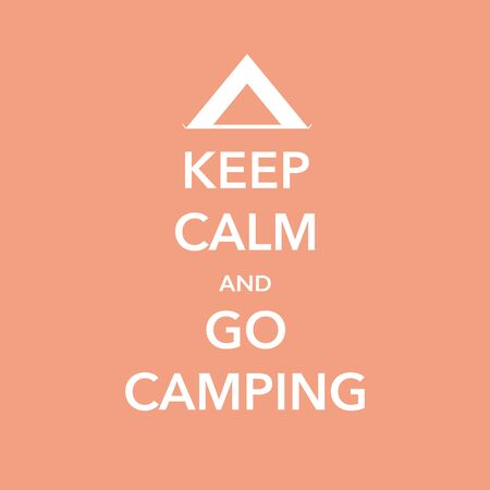 keep calm and go camping vector illustration banner Vektoros illusztráció