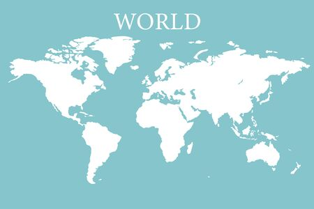 world map earth realistic design isolated vector illustration