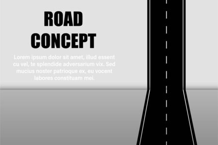 road concept mock up copy space vector illustration
