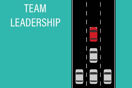 team leadership road concept leader teamwork vector illustration Illusztráció