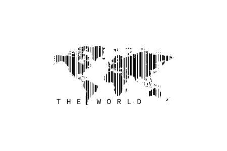 world bar code sale marketing concept vector illustration
