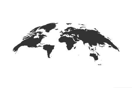 Earth world globe map icon. Vector illustration isolated. Ilustração