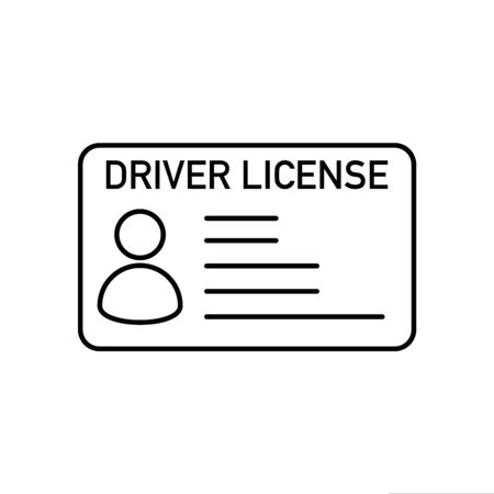driver licence id card vector illustration white background