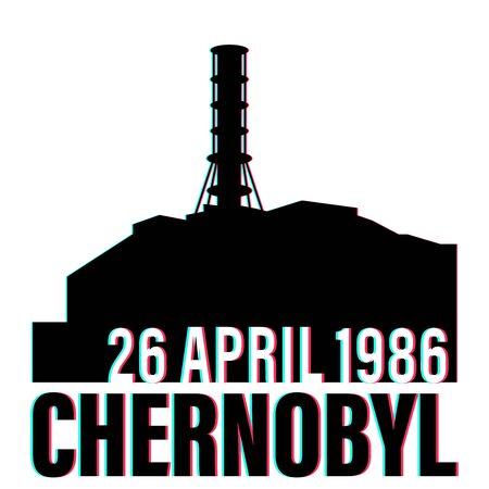 chernobyl disaster vector stock illustration with date isolated