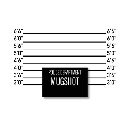 mugshot in police mockup isolated white background vector