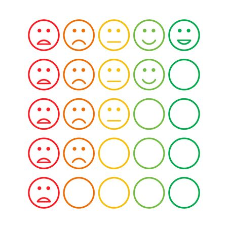 satisfaction feedback review scale service survey vector illustration