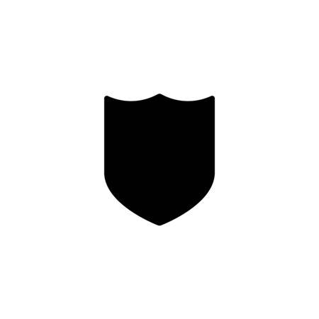 shield icon white background isolated stock vector illustration Illustration
