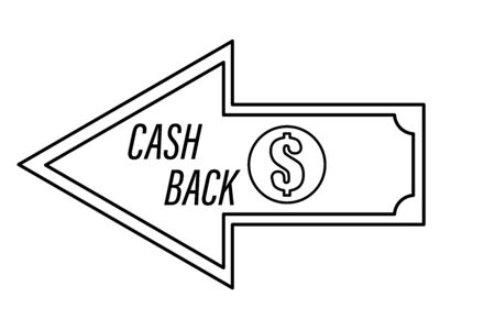 Cash back Money refund sign isolated vector illustration Illustration