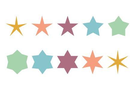 star icon isolated set white background vector illustration
