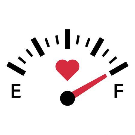love meter gauge scale valentine day vector illustration Vecteurs