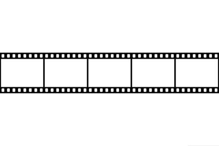 Retro picture tape film camera. Cinema filmstrip. vector Illustration